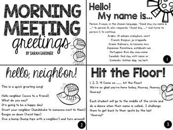 morning meeting ideas for preschool a collection of free morning meeting greetings 418