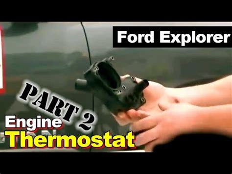 ford explorer thermostat housing coolant leak
