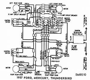 ford mercury and thunderbird 1957 windows wiring diagram With diagram also fuse box diagram for 2002 ford thunderbird also f100 turn