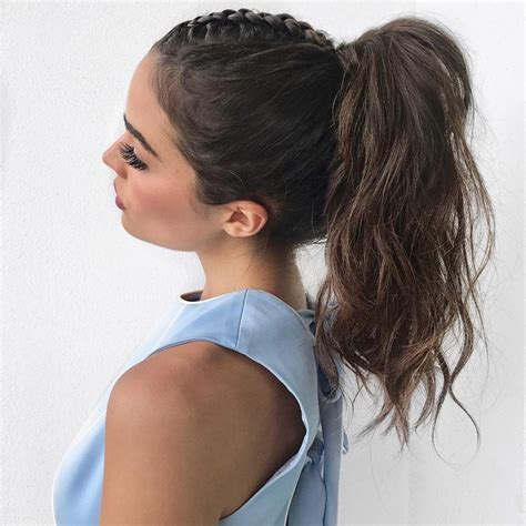 ponytail messy hairstyles braid updo half single instagram hair hairstyle styles french mohawk cute simple dress