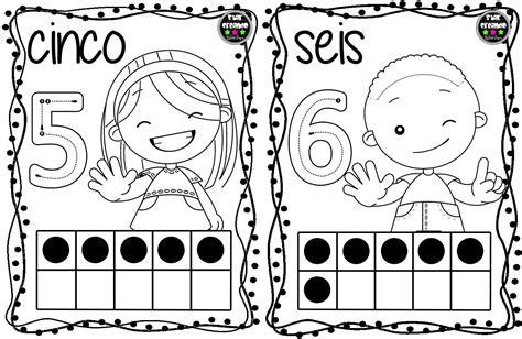 Tarjetas números para colorear (4) Imagenes Educativas