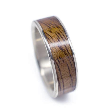 gold  wood wedding band  mahogany casavir jewelry