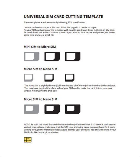 micro sim template micro sim card template 12 free printable sle exle format free premium