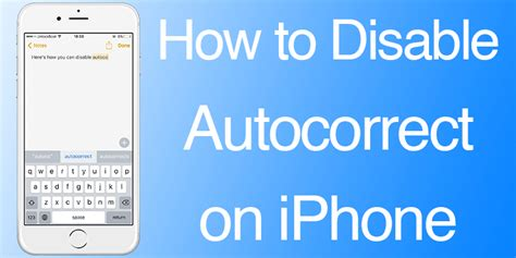 how to disable an iphone how to disable autocorrect on iphone or