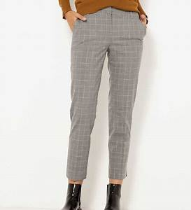 pantalon cigarette a carreaux femme gris femmes camaieu With pantalon a carreau