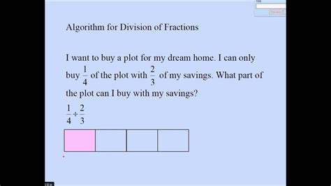 division  fractions partitive youtube