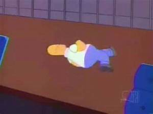 homer simpson spins on his shoulder for ten minutes youtube With curly spinning on floor