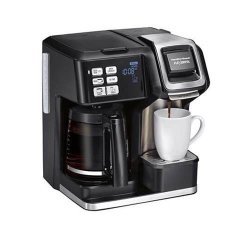It is easy to program, and the single serve, or k cup side, works great. Hamilton Beach Flexbrew 2-Way 49976 Coffee Maker Review 2020 - Beaniecoffee.com