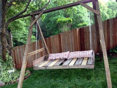 cool wooden garden swing  pallets interior design