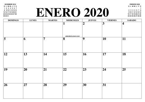 calendario enero el calendario enero imprimir