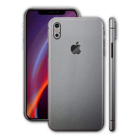 space grey iphone iphone x space grey matt skin wrap decal easyskinz 13007