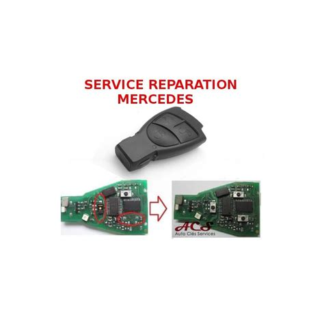 service reparation telecommande cle  boutons mercedes
