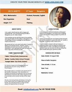 How To Create A Biodata For Job Lovable Person Who Are Loving Me Biodata Format Bio