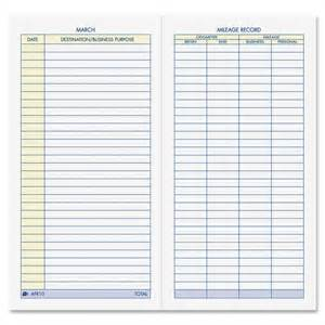Vehicle Mileage Log Sheet