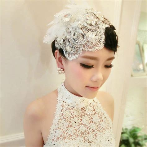 Wedding Veils Hair Accessories 2016 chapeau mariage lace headdress flower hat pearl for