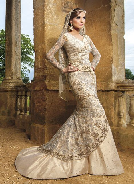 east meets west indo western gown indian wedding gown