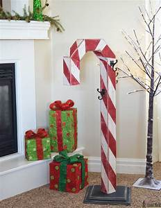 candy cane holiday stocking post her tool belt With diy christmas curtains