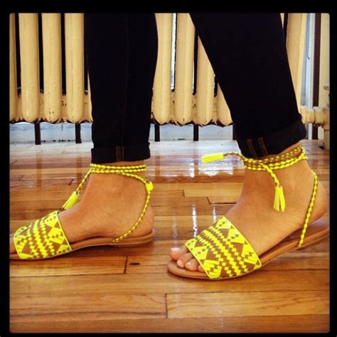 yellow flats ideas  pinterest yellow sandals