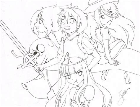 Adventure Time Coloring Pages Fionna And Cake
