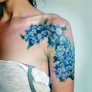 Flower Shoulder Designs Hydrangea Tattoos Designs Ideas And Meaning Tattoos For You