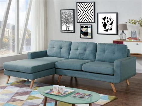 accessoire canapé canapé d 39 angle en tissu bleu angle gauche sigrid