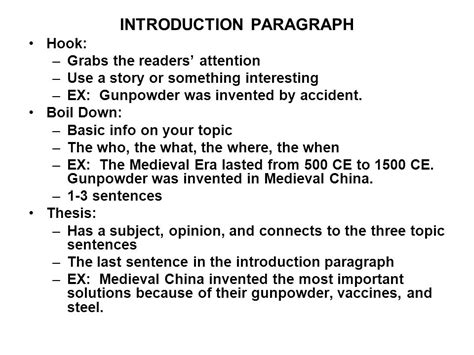 the introduction paragraph ppt introduction paragraph ppt