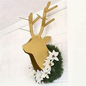 diy cardboard deer head tutorial With diy cardboard deer head template