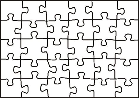 Free Puzzle Pieces Template, Download Free Clip Art, Free