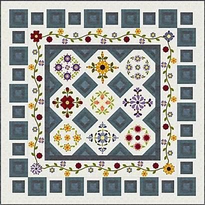 Block Quilt Mystery Gate Garden Quilts Month