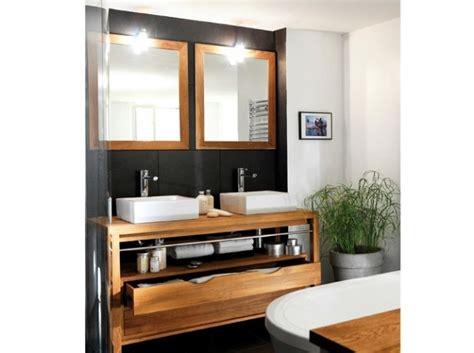 organisation meuble bas salle de bain avec vasque a poser