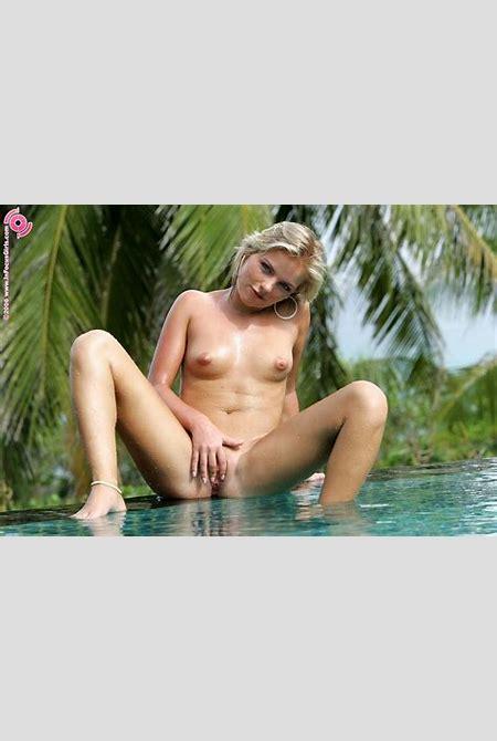 InFocusGirls.com presents: Sexy blonde rene posing naked in tropical paradise