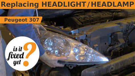 Replacing Headlight / Headlamp