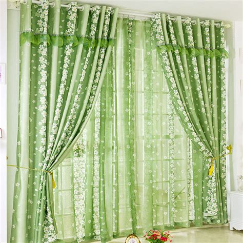 Online Buy Wholesale Green Window Curtains From China