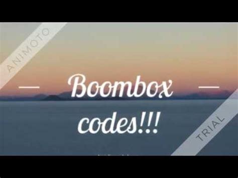 The following list is of codes that used to be in the game, but they are no longer how to redeem codes in boom. boombox codes for roblox - YouTube