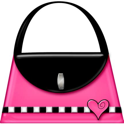 pink purse clipart bag illustration minnie mouse