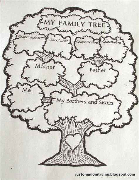 cute family tree template  kids jpg