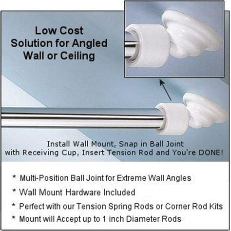 shower curtain rods shower rod and sloped ceiling on