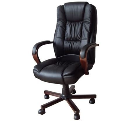 high back adjustable genuine leather executive office