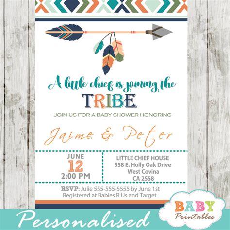 tribal baby shower invitation  boys boho arrow