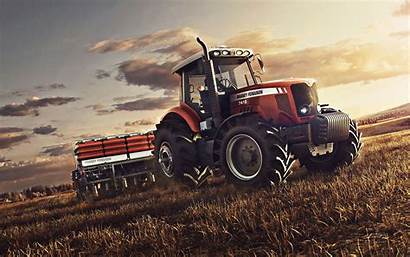 Massey Ferguson Tractor Field Wheat Sowing Planting