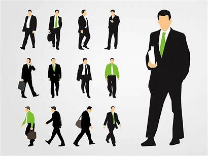 Graphics Businessmen Clipart Working Silhouette Vectors Silhouettes