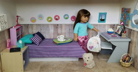 American Doll Living Room Plans by With Ag Fan Diy Project Doll Room Tour
