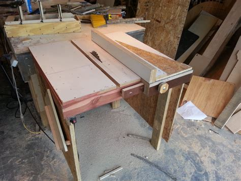 make a table saw table download build your own table saw plans free