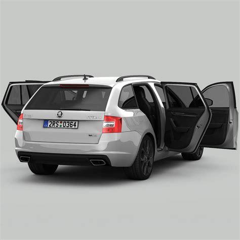 2018 Skoda Octavia Combi Rs 3d Model