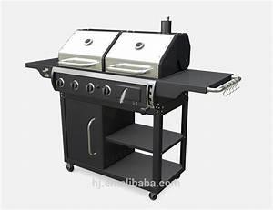 Barbecue Gaz Et Charbon : gaz et combinaison de charbon de bois grill grille de ~ Dailycaller-alerts.com Idées de Décoration