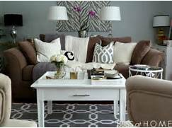 Living Room Color Ideas For Dark Brown Furniture by Grey Lamps Grey And Tables On Pinterest
