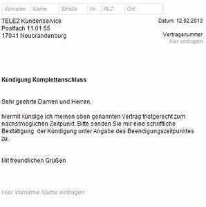 Kündigung Einer Wohnung : tele2 k ndigungsschreiben so formulieren sie es richtig ~ Yasmunasinghe.com Haus und Dekorationen