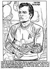 Trek Coloring Enterprise Drawing Paper Dolls Shatner Sci Fi Mostly Too William Getcolorings Getdrawings 1966 Captain Printable sketch template