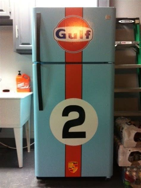 garage sw cooler racing themed fridge for the house or garage to match your
