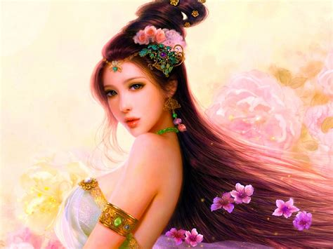 pastel beauty art cg woman asian girl ultra  hd